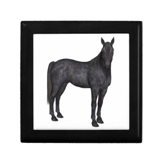 Black Horse Side View Jewelry Box