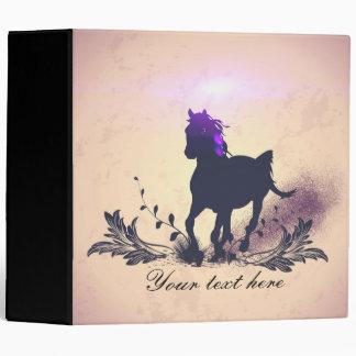 Black horse silhouette vinyl binder