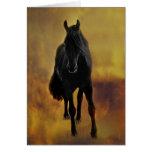 Black Horse Silhouette Card