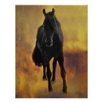 Black Horse Silhouette Letterhead
