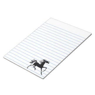 Black Horse Silhouette Memo Note Pad