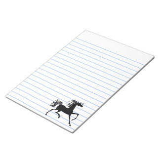 Black Horse Silhouette Note Pad