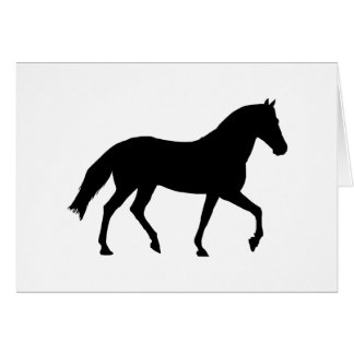 Black Horse Silhouette Pony Horse Shadow Simple Card