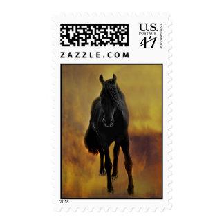 Black Horse Silhouette Postage