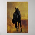 Black Horse Silhouette Print