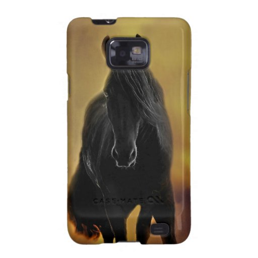 Black Horse Silhouette Samsung Galaxy SII Cases
