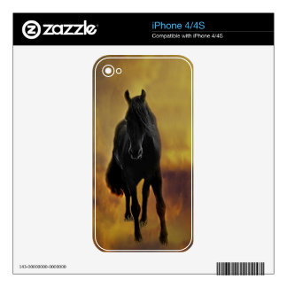 Black Horse Silhouette Skin For iPhone 4S