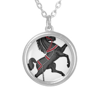 Black Horse Silver Plated Necklace