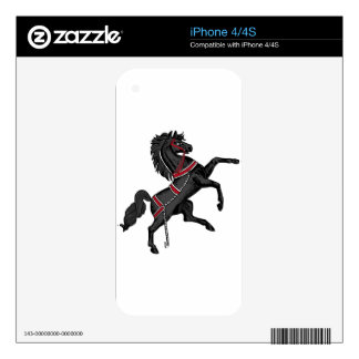 Black Horse Skin For iPhone 4S