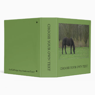 Black Horse standing 3 Ring Binder