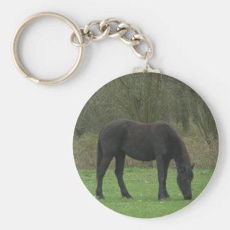 Black Horse Standing Key Chain