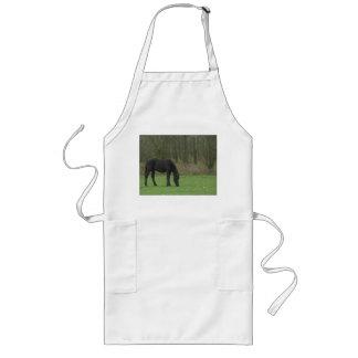 Black Horse standing Long Apron