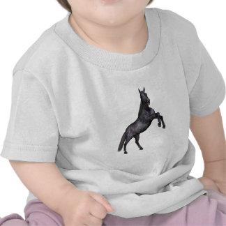 Black Horse Standing T Shirts