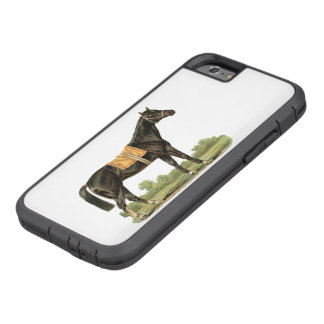 Black horse thoroughbred beautiful vintage art tough xtreme iPhone 6 case