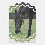 Black Horse Towel