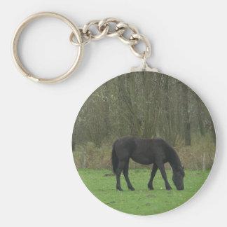 Black Horse walking Key Chain
