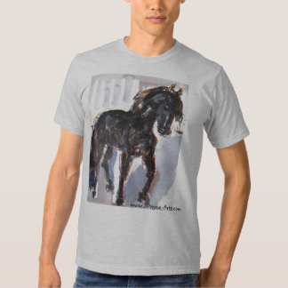 Black Horse Watercolor Shirt