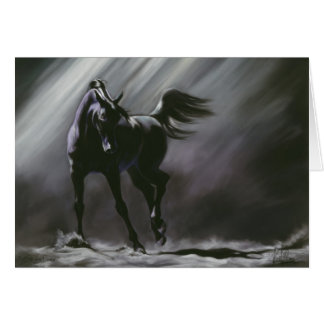 Black Horse Wisdom Greeting Card
