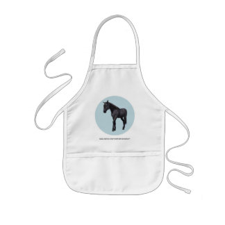 Black Horse with Blue Eyes Kids' Apron