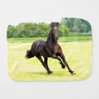 Black Horse Baby Burp Cloths