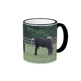 Black Horses Grazing Mug