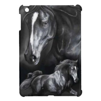 Black horses iPad mini cases