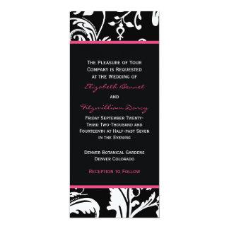 Black & Hot Pink Contemporary Skinny Invitation