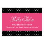 Black & Hot Pink Cute Modern Polka Dots Large Business Card