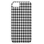 Black Houndstooth Cover For iPhone 5C