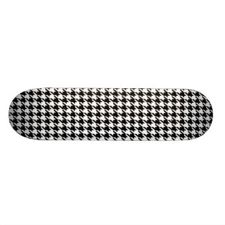 Black Houndstooth Custom Skate Board