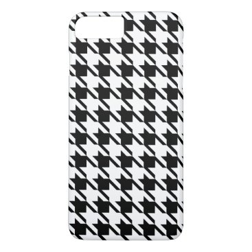 Black Houndstooth iPhone 7 Plus Case