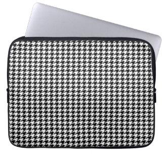 Black Houndstooth Laptop Sleeves