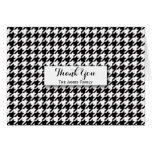 Black Houndstooth Pattern Personalized Card
