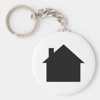 black house icon key chain
