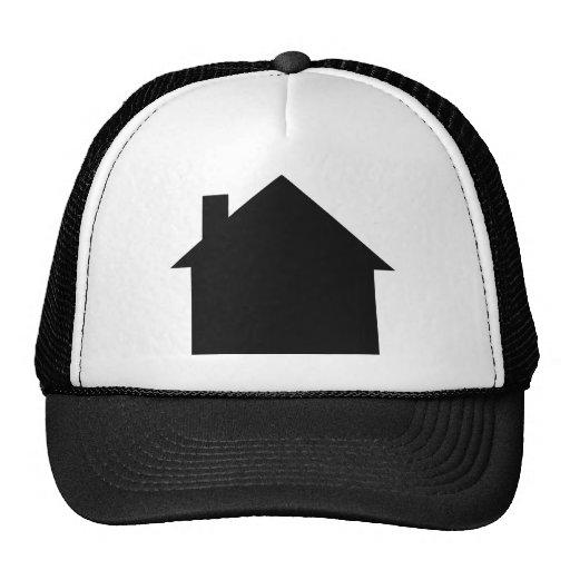 black house icon mesh hats