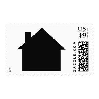 black house icon postage stamp