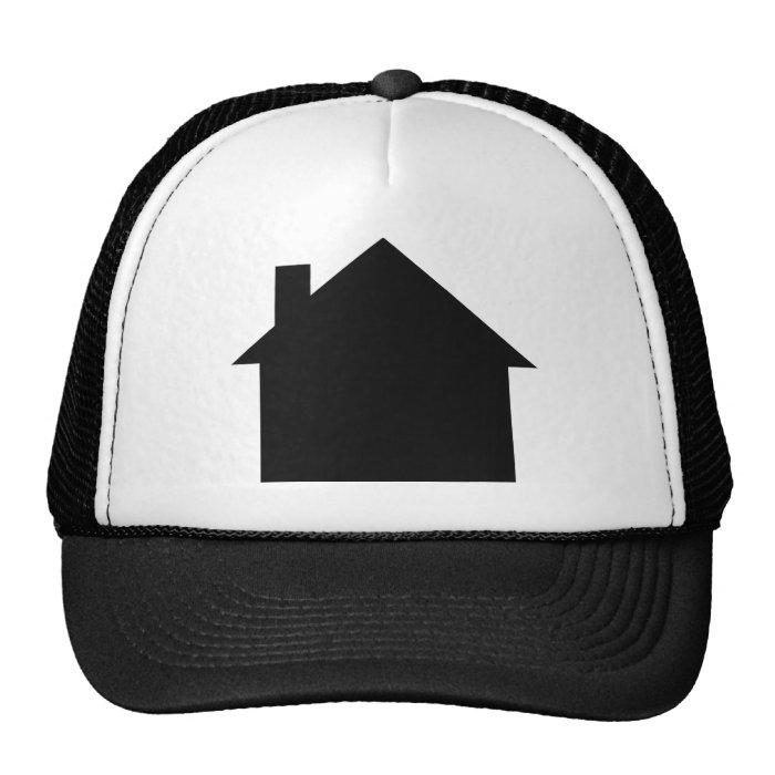 black house icon trucker hat