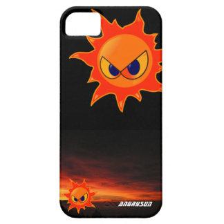 black housing a furious sun in a dusk iPhone SE/5/5s case