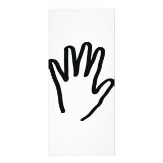 black human hand rack card template