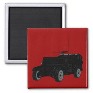 Black Hummer 2 Inch Square Magnet