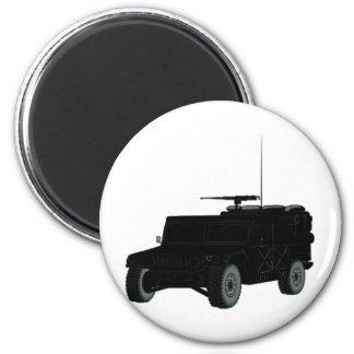Black Hummer 2 Inch Round Magnet