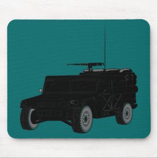 Black Hummer Mouse Pad