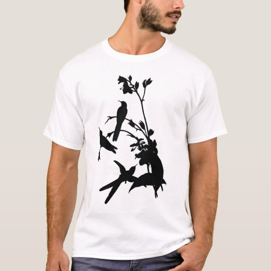 Black hummingbird by John Gould T-Shirt