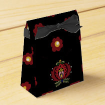 Black Hungarian Folk Design Favor Box