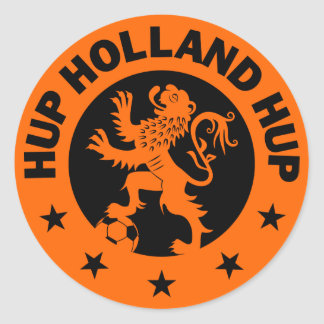 Black Hup Holland - Editable Background color Classic Round Sticker