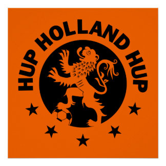 Black Hup Holland - Editable Background color Poster