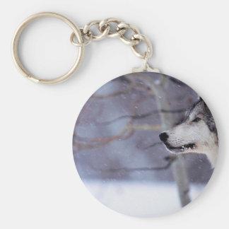Black Husky Dog Products Basic Round Button Keychain