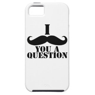 Black I Moustache You a Question iPhone 5 Covers