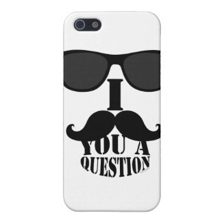 Black I Mustache You A Question with Sunglasses iPhone 5 Case