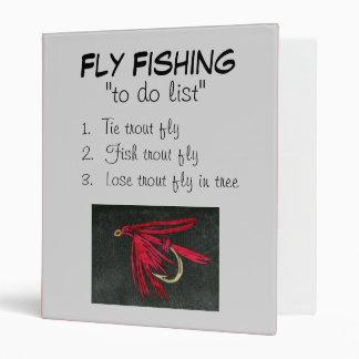 """Black Ibis-To Do List"" Fly Fishing Journal 3 Ring Binder"